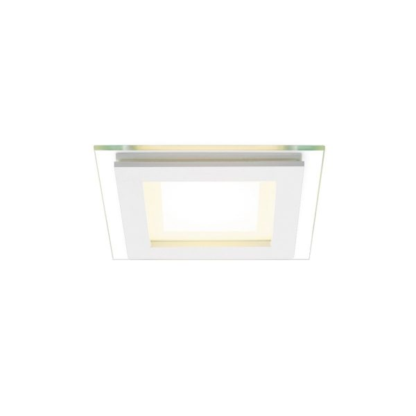 Home sweet home inbouwspot LED Glass vierkant - wit