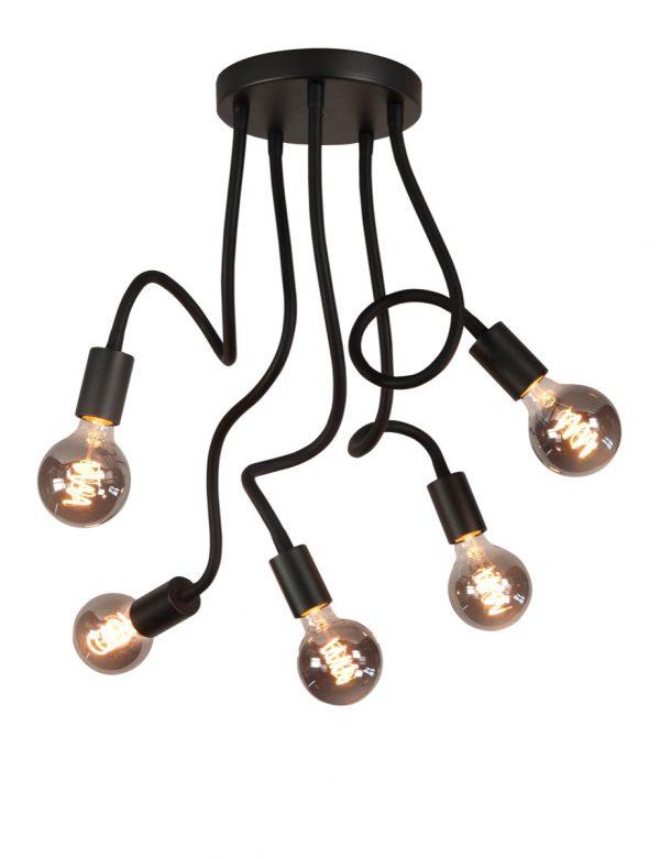 Highlight plafondlamp Flex 5 lichts - zwart