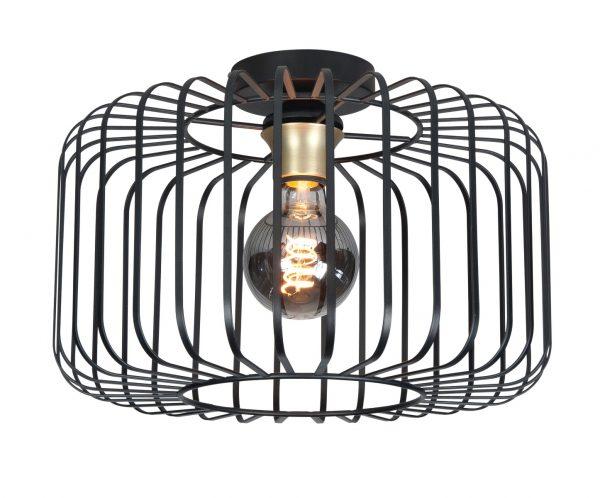 Highlight plafondlamp Lucca - zwart / goud