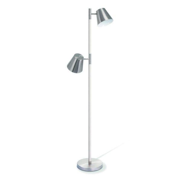 Home sweet home vloerlamp Clocks ↕ 150 cm - mat staal