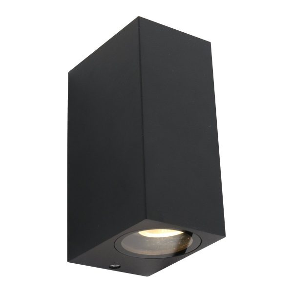 Steinhauer buiten wandlamp Logan 2 lichts - zwart
