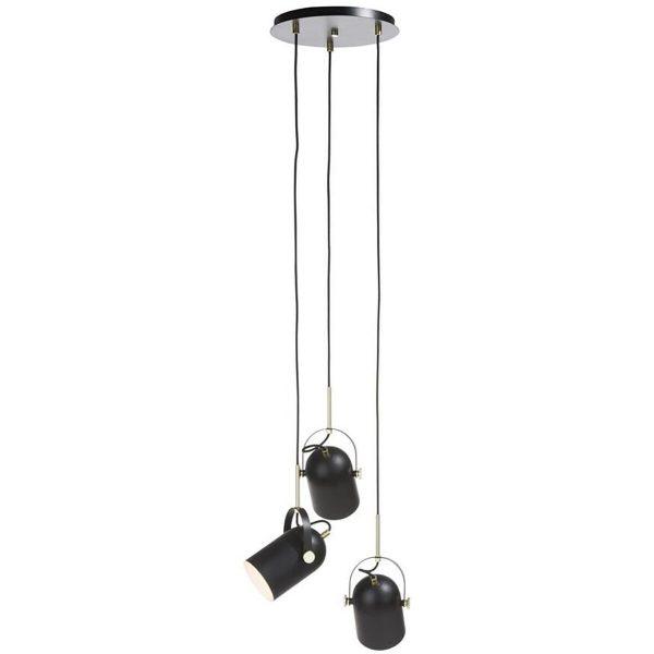 COCO Maison - Ruby Hanglamp - E27 Fitting - 3-lichts - Rond - Mat Zwart - Aluminium