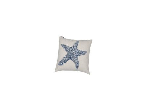 David Fussenegger David Fussenegger kussenhoes Nova starfish 50x50 royal blue