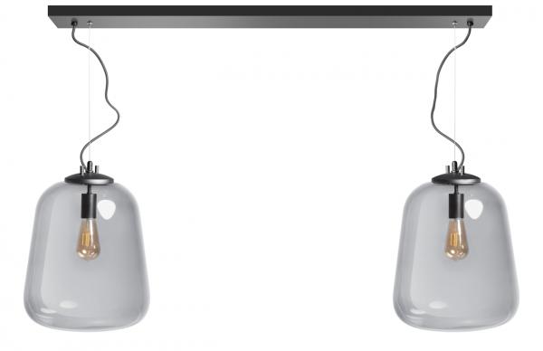 ETH hanglamp Benn 2 lichts - zwart