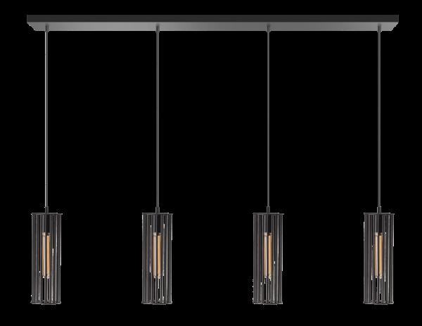 ETH hanglamp Birdy 4 lichts balk - zwart