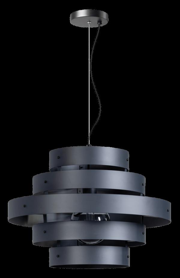 ETH hanglamp Blagoon 5 rings - antraciet