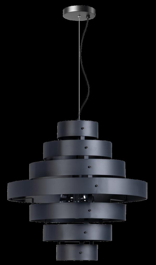 ETH hanglamp Blagoon 7 rings - antraciet