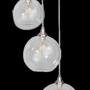 ETH hanglamp Calvello 3 lichts - geborsteld staal