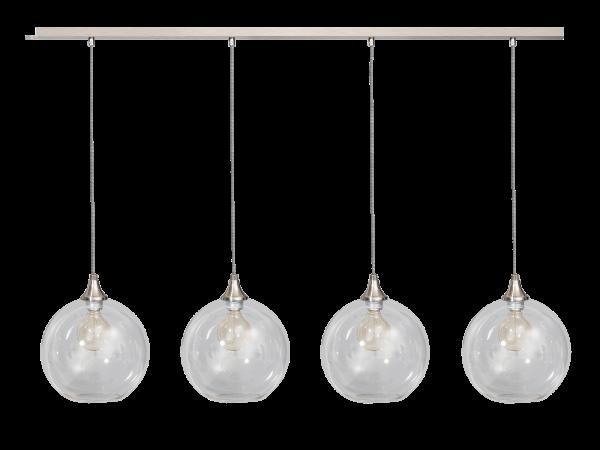 ETH hanglamp Calvello 4 lichts balk - geborsteld staal