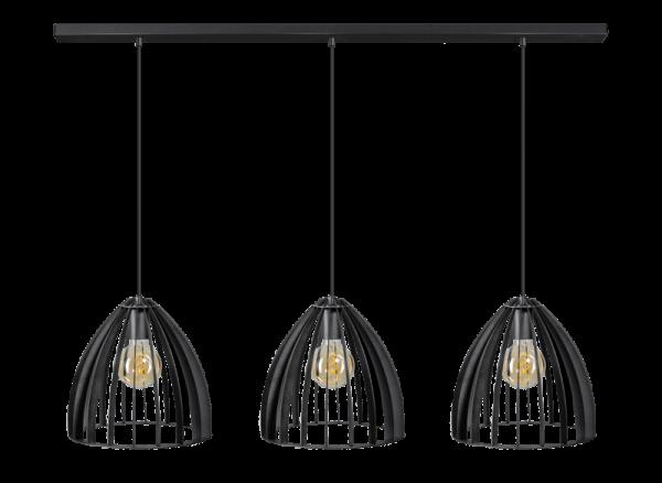 ETH hanglamp Dean 3 Lichts balk - zwart
