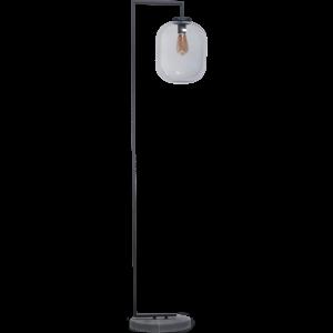 ETH vloerlamp Benn XL - zwart / smoke