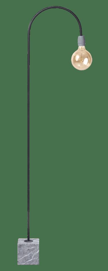 ETH vloerlamp Concrete bow - zwart