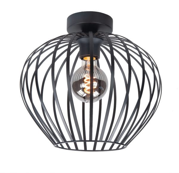 Highlight plafondlamp Mela 30 cm - zwart