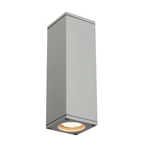 SLV buiten wandlamp Theo Up-Down Out - zilvergrijs