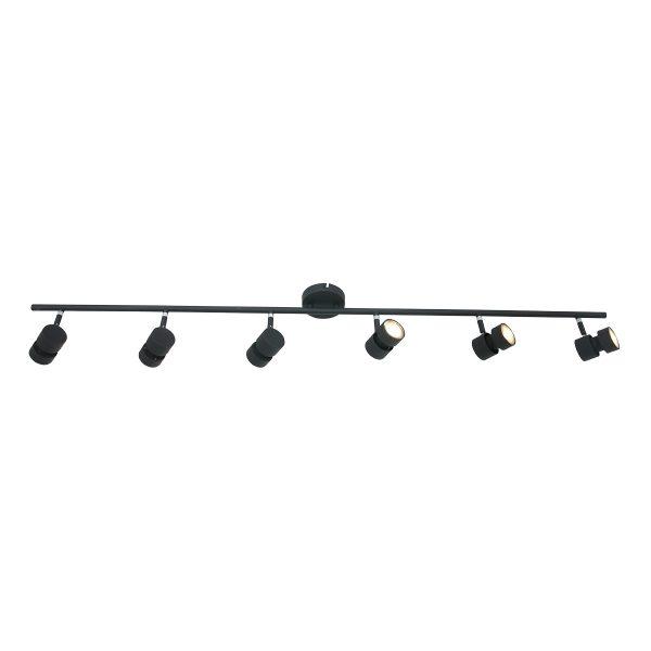 Steinhauer plafond opbouwspot Natasja LED - 6L zwart