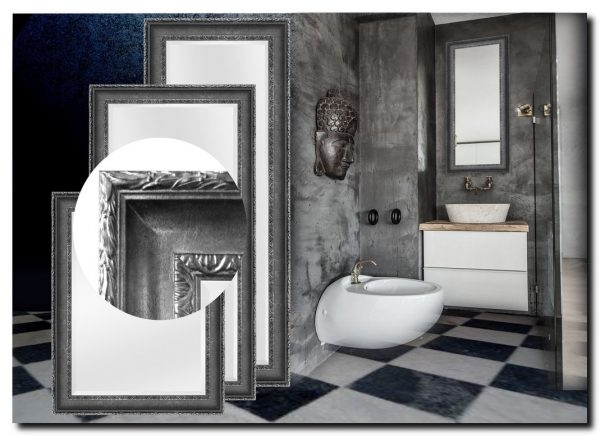 Elegante Spiegel Leonardo Antiekzilver