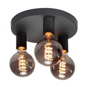 HighLight plafondlamp Basic 3 lichts - zwart