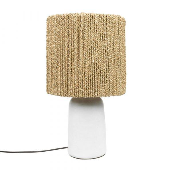 Bazar Bizar - The Chalki tafellamp - wit/natuurlijk