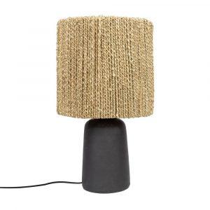 Bazar Bizar - The Chalki - tafellamp - zwart/natuurlijk