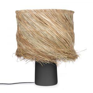 Bazar Bizar - The Pandan - tafellamp - zwart/natuurlijk