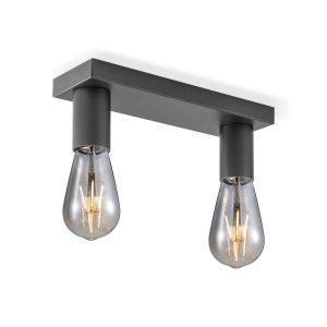 Home sweet home opbouwspot Nitro 2 lichts - zwart
