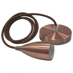 LED Hanglamp - Edysa - Industrieel - Rond - Mat Koper Aluminium - E27