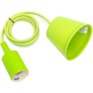 LED Hanglamp - Hangverlichting - Aigi Yuka - E27 Fitting - Rond - Mat Groen - Kunststof