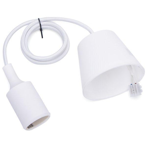 LED Hanglamp - Hangverlichting - Aigi Yuka - E27 Fitting - Rond - Mat Wit - Kunststof