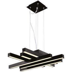 LED Hanglamp - Hangverlichting - Asfino - 50W - Natuurlijk Wit 4000K - Mat Zwart - Aluminium