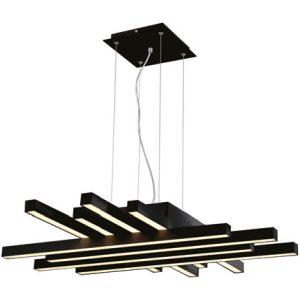 LED Hanglamp - Hangverlichting - Asfino - 85W - Natuurlijk Wit 4000K - Mat Zwart - Aluminium