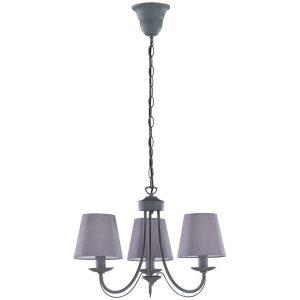 LED Hanglamp - Hangverlichting - Trion Citra - E14 Fitting - 3-lichts - Rond - Beton - Aluminium