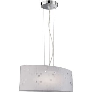 LED Hanglamp - Hangverlichting - Trion Colmino - E27 Fitting - Rechthoek - Mat Chroom - Aluminium