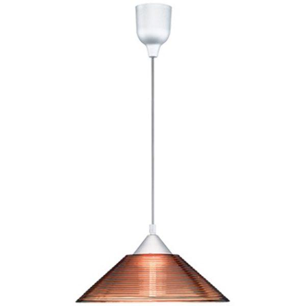 LED Hanglamp - Hangverlichting - Trion Dikon - E27 Fitting - Rond - Aluminium Oranje - Kunststof