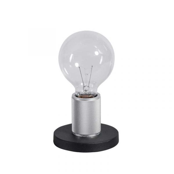 ETH tafellamp Piston base - zwart / zilver