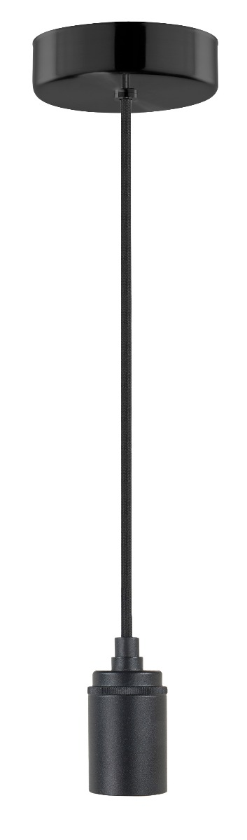 HighLight verlichtingspendel zonder glas met alu lamph. - zwart