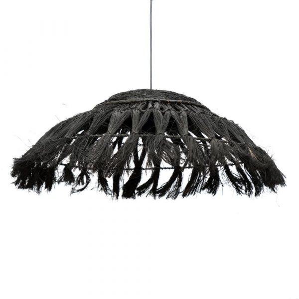 Bazar Bizar - The Abaca Disc - hanglamp - zwart