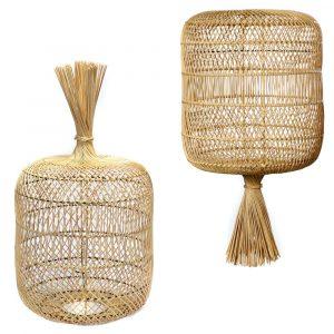Bazar Bizar - The Dumpling - vloerlamp / hanglamp L - natuurlijk