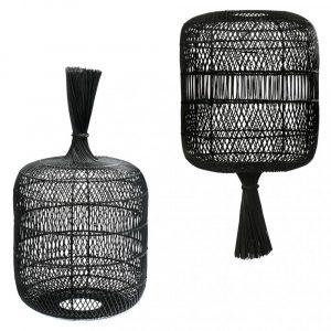 Bazar Bizar - The Dumpling - vloerlamp / hanglamp L - zwart