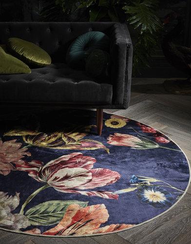Essenza Essenza Filou Finest Carpet Rond 90 Dark blue