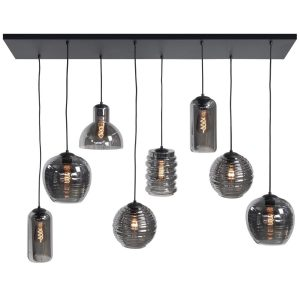 HighLight hanglamp Fantasy 8L - zwart / smoke