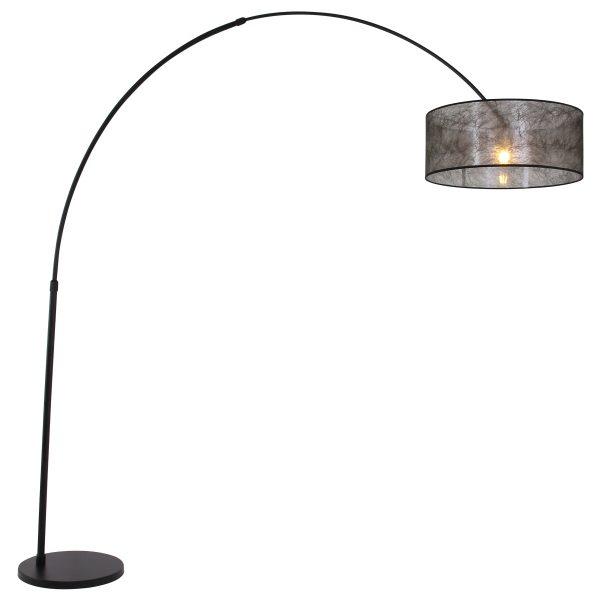 Steinhauer - Sparkled Light - booglamp met zwarte kap - zwart